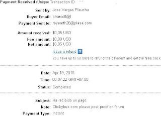 Pembayaran dari ClickyBux PTC