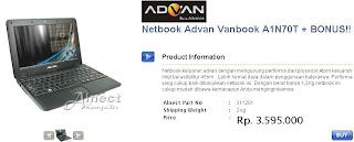 Netbook Advan Vanbook A1N70T