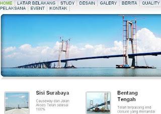 Jembatan Suramadu, jembatan terpanjang di Indonesia yang menghubungkan Surabaya dan Madura