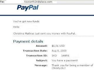 Pembayaran dari PTC Christyclix