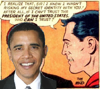 Superman meets Barack Obama