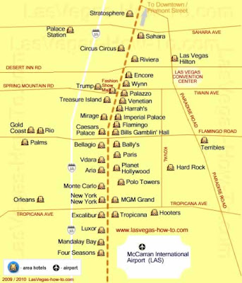 You let hotels on vegas strip map holes