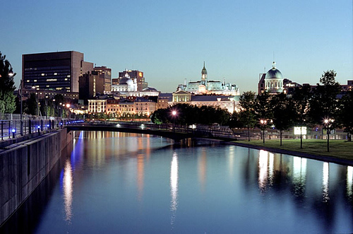 Old Montreal from the Old Port by Pierre Phaneuf