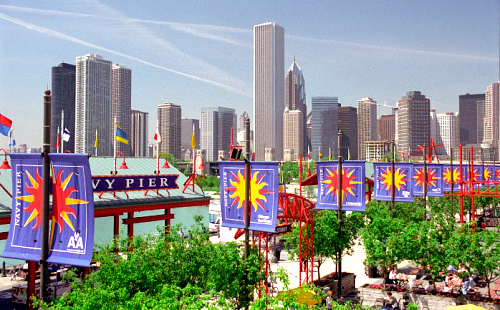 Navy Pier & Chicago Skyline by David Paul Ohmer