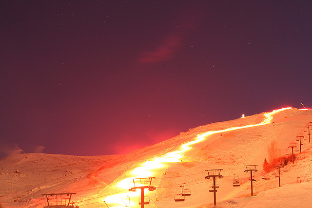 Sun Valley Lights Skiers by dani 9 to 5