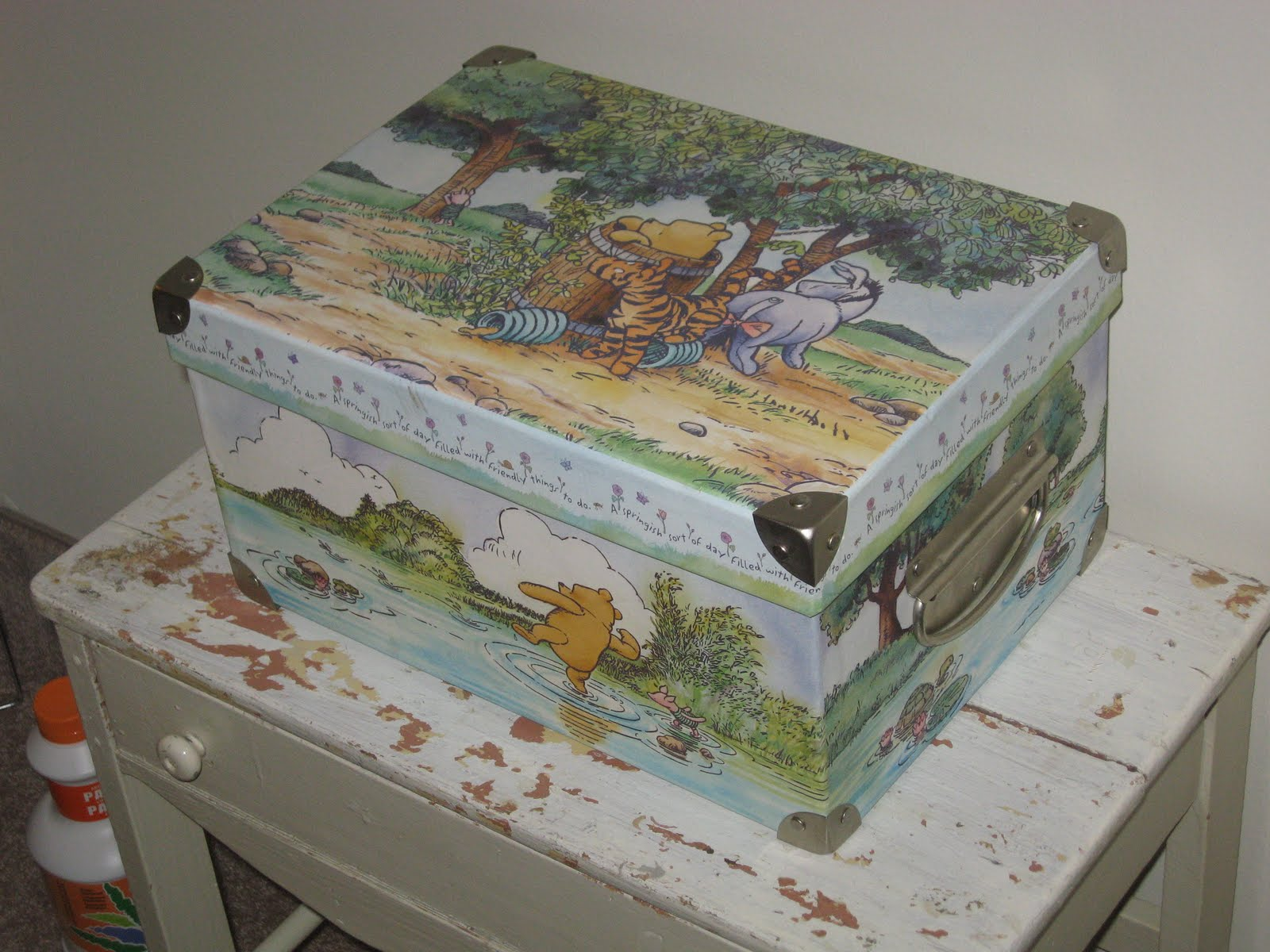 Winnie the Pooh Storage Box & home in my stretchy pants: Pretty Storage Boxes Containers u0026 Baskets