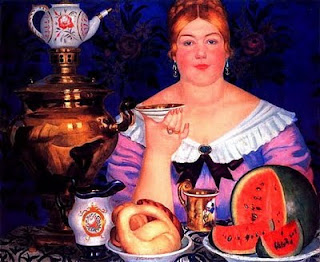 Russian Samovar in Kustodiev's Art
