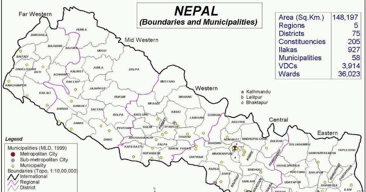 Nepal Map of Nepal