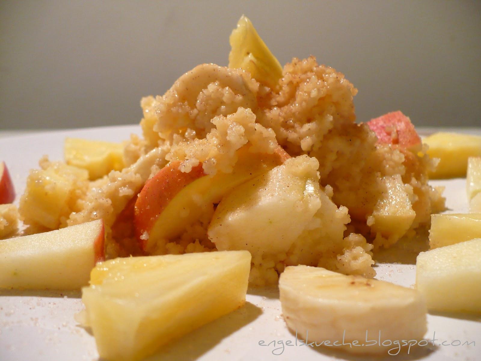 Essen aus Engelchens Küche: Süßer Couscous mit Zimt und Obst