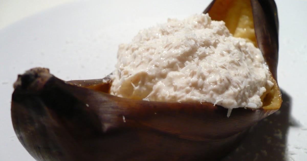 essen aus engelchens k che gegrillte bananen mit kokos zimt quark. Black Bedroom Furniture Sets. Home Design Ideas