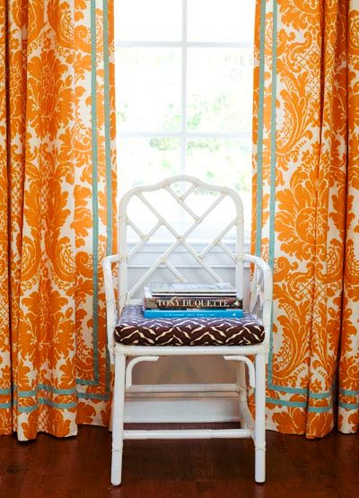[palmer+weiss+orange+brocade+curtain+drapes+white+lacquer+faux+bamboo+chippendale+chair.jpg]
