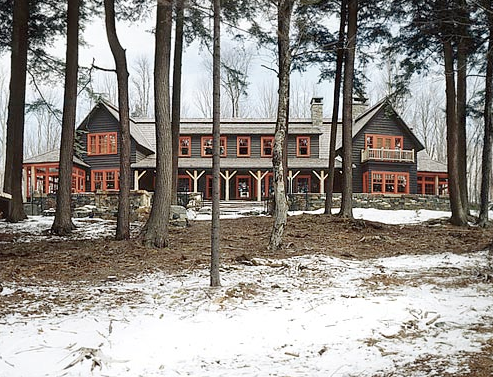 A Mountain Lake Country House Long Barn Make For A Magnificent Winter Retreat Nbaynadamas
