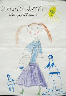 Детские Рисунки Девочка рисует девочку
