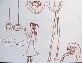 Детские Рисунки гимнастки фломастер