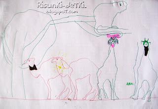 Детские Рисунки животные трафарет зверюшки жираф верблюд обезьяна шариковая ручка
