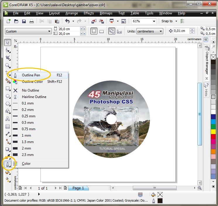 Membuat Cover CD/DVD dengan CorelDRAW X5