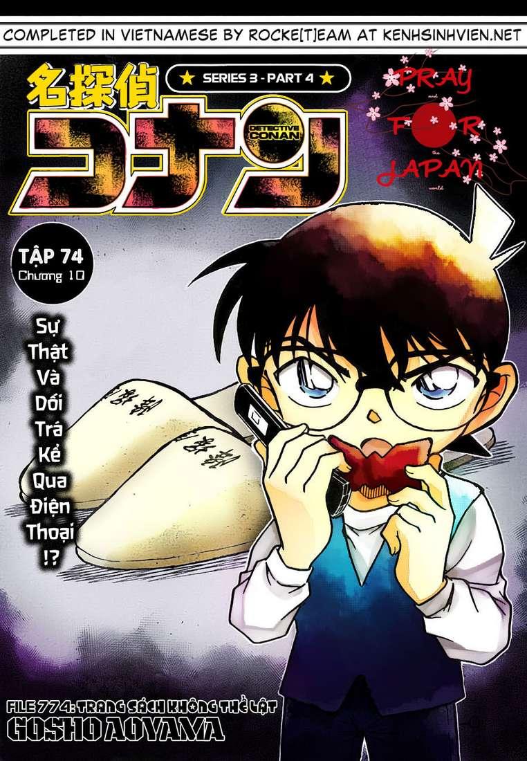 Detective Conan - Thám Tử Lừng Danh Conan chap 774 page 1 - IZTruyenTranh.com