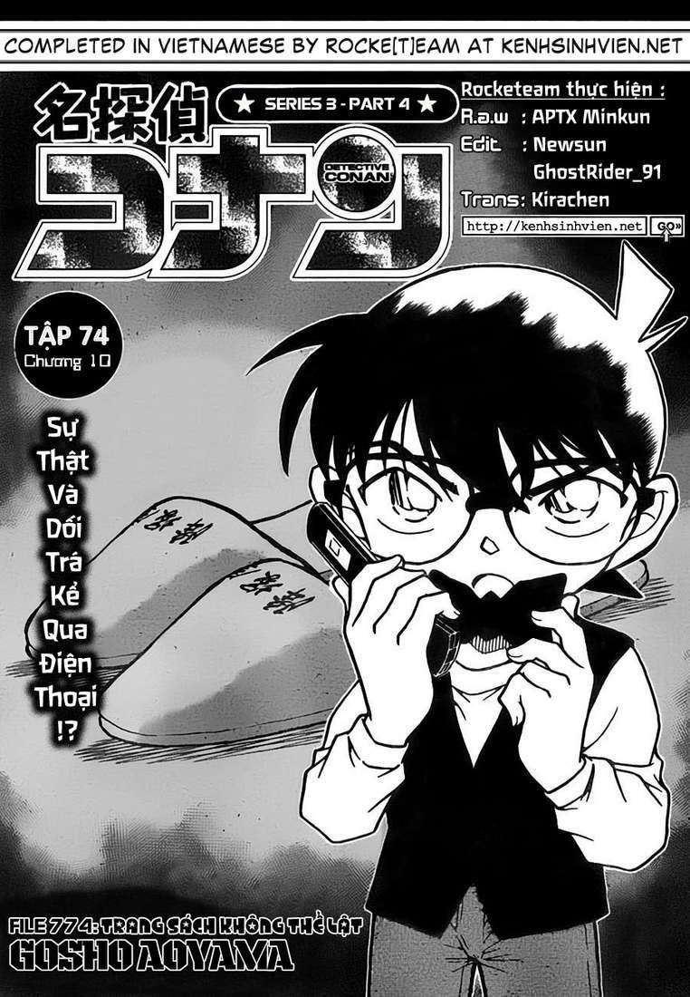 Detective Conan - Thám Tử Lừng Danh Conan chap 774 page 2 - IZTruyenTranh.com