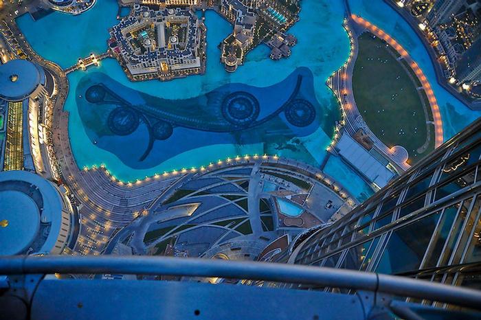 Burj Khalifa Top Floor Inside View Night View of Burj Khalifa