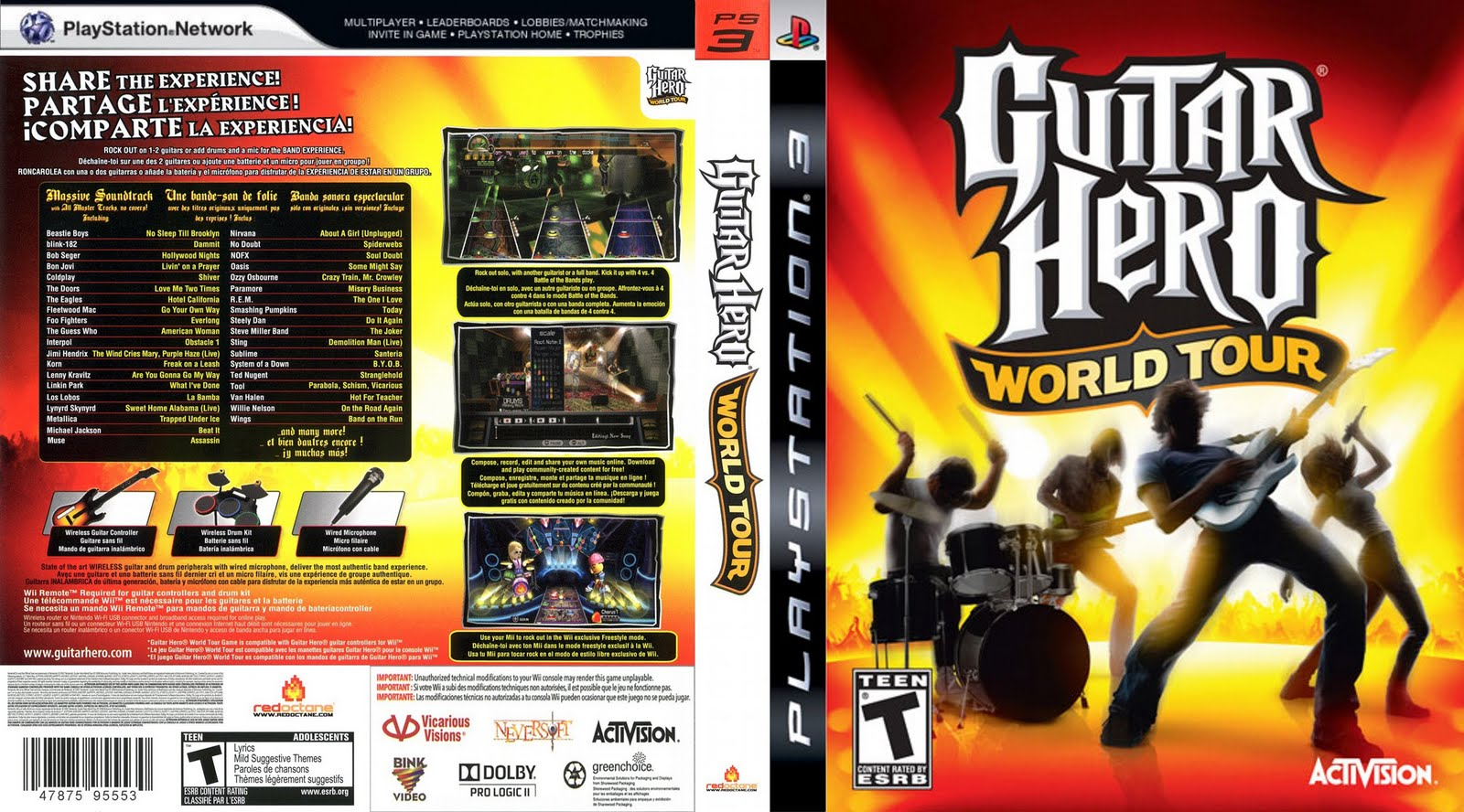 Guitar Hero World Tour Wallpaper