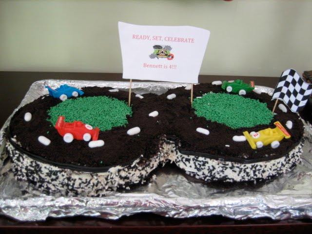Oval Race Car Cake