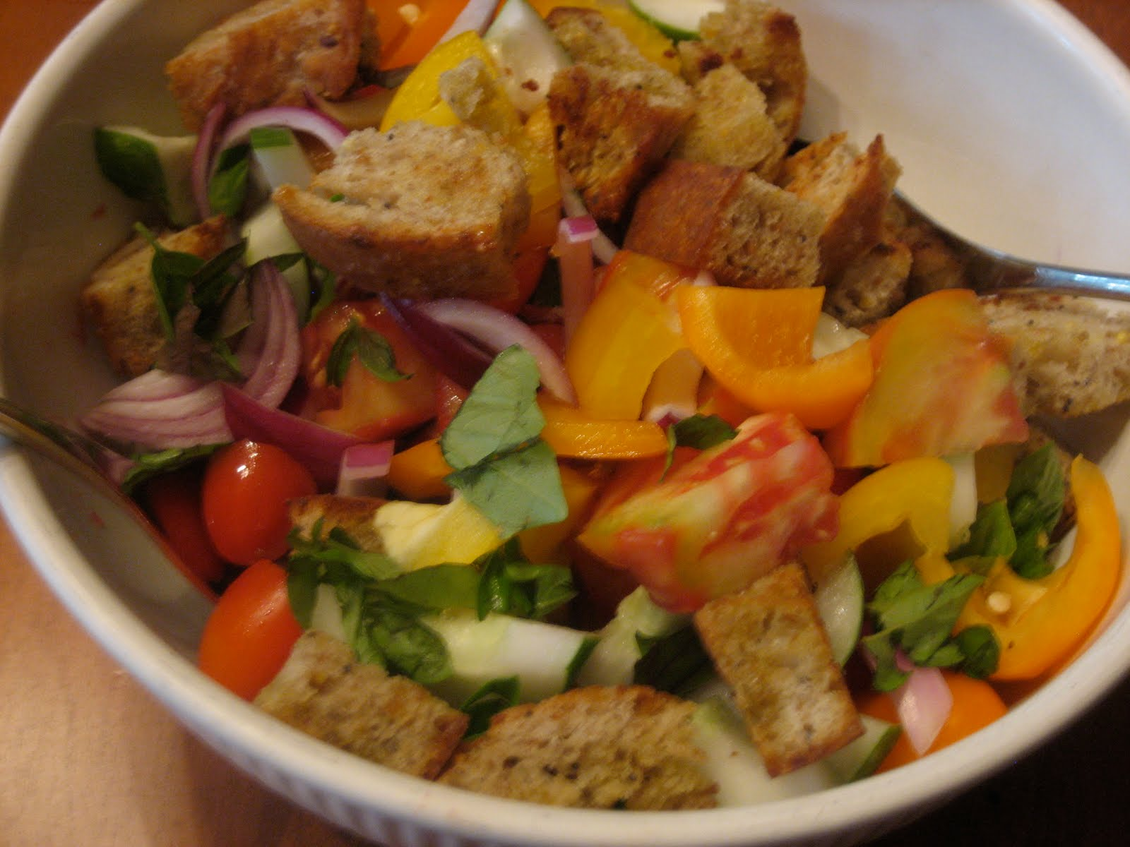panzanella salad recipe -barefoot contessa - close to home