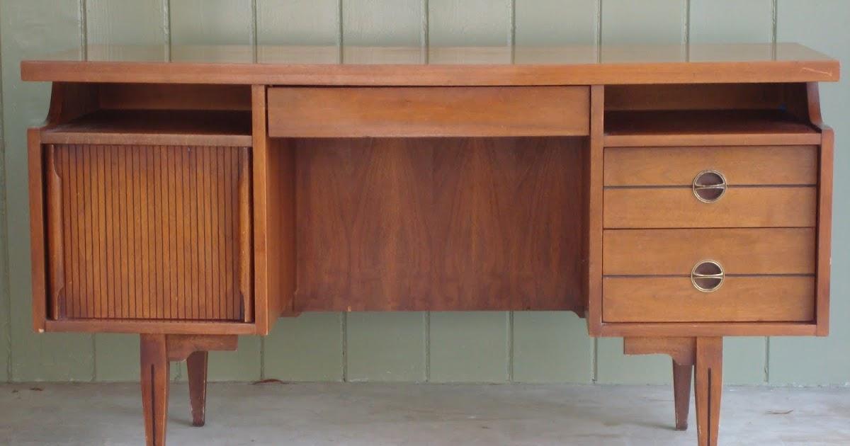 Modern60 Sold Mid Century Modern Walnut Hooker Desk