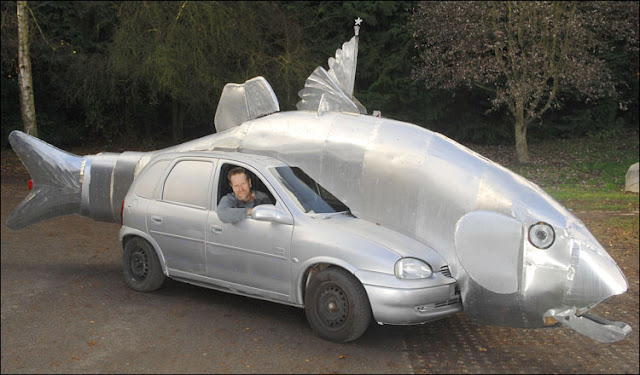 Bass Fish Art Car