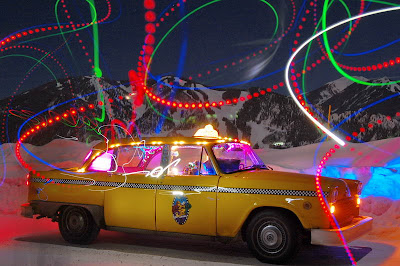 The Ultimate Taxi Art Car- Totally Crazy Disco Ride
