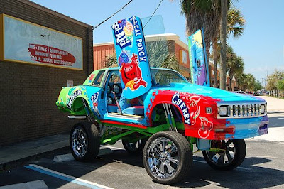 Front Car Covered in Kool-Aid Graphics