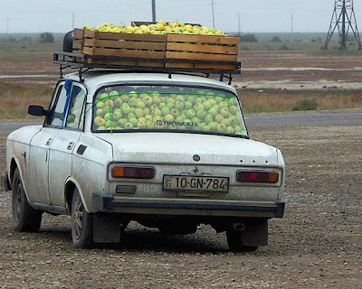 Apple car filled with apples