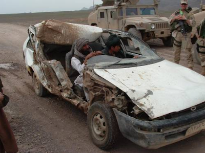 Car with no roof in Afghanistan