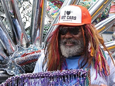 George Clinton and the Atomic Dog Art Car