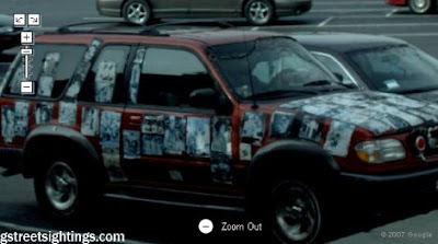 Sticker Art Car on Google Street View