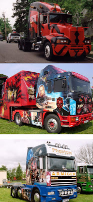 Star Wars Phantom Menace Big Rig Art Trucks