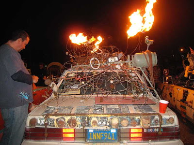 Discordia Art Car in the Night