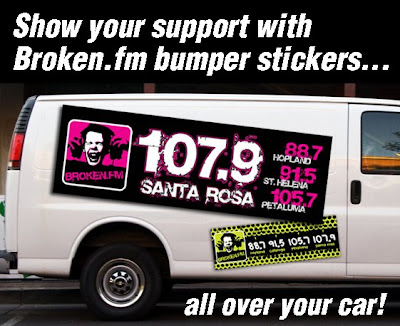 Show your support for Broken.FM with a bumper sticker