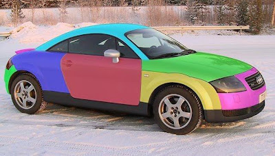 Audi TT Harlequin Art Car Wannabe #7