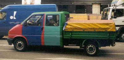VW Pickup Art Truck Harlequin Wannabe #6