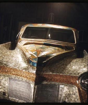 Athena Art Car by Nikos Bel-Jon Stain Glass Hood Color View