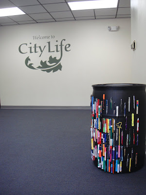 Pen Recycling Barrel Now at City Life in Santa Rosa