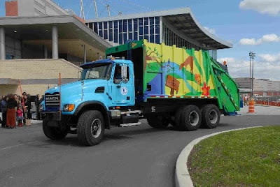 Environmental Awareness Garbage Art Truck