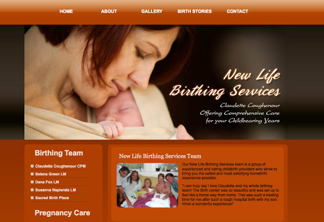 New Life Birthing Services Web Site
