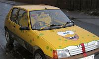 SpongBob Fiat Art Car