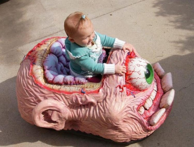 Creepy Crawler Brain Art Car For Babies