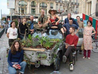 Belgium Garden Art Car