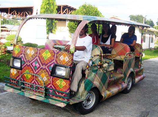 Bamboo Taxis Hit the Streets of the Philipines