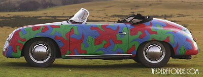 Porsche 356 Art Car painted with M.C Escher Reptiles