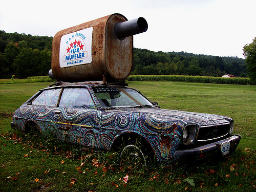 5 Star Mosaic Muffler Art Car