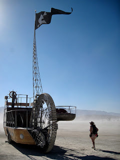 pirate ship burning man mutant vehicle front
